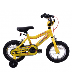 "Spider Boys 12"" Wheel BMX & Stabilisers Yellow"