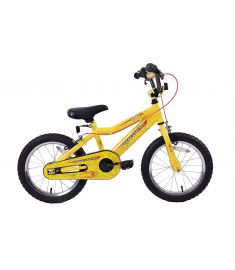 "SPIDER BOYS 16"" WHEEL BMX YELLOW"