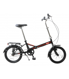 "Ammaco Compact 16"" Wheel Folding Bike Black"