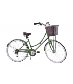 "Ammaco Classique 26"" Wheel Heritage Womens Bike Kale Green"