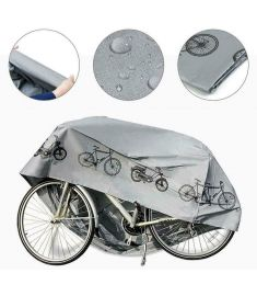 Essential Weather Resistant Bicycle Cover Grey