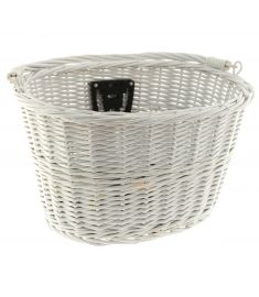 Dawes Oval Wicker Basket White