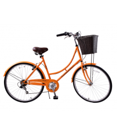"Ammaco Classique 26"" Wheel Heritage Bike Orange"