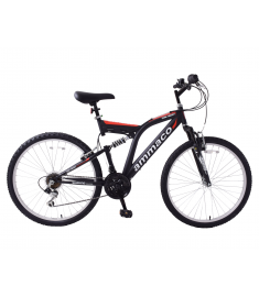 "Ammaco Dark Ascent 24"" Dual Suspension Black"