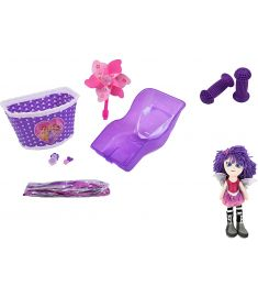 Kids Dolly Seat Accessories Deluxe Pack + Molly Dolly - Purple