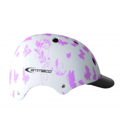 Ammaco ABS Butterfly Helmet White/Pink 53-55cm