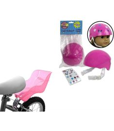 Ride Along Dolly Seat & Helmet Pink