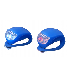Front & Rear LED Silicone Light Set Blue