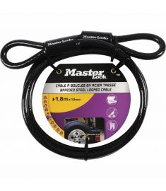 MasterLock Hooped End Cable 1.8m x 10mm