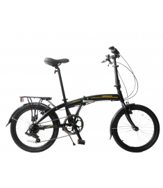 "Ammaco Fold-A-Lite 20"" Folding Bike Black"