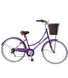 "Ammaco Classique 26"" Dutch Womens Bike Purple"