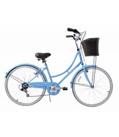"Ammaco Classique 26"" Dutch Womens Bike Blue"