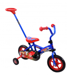 "Spike Space Ranger 10"" Wheel Steering Bike Blue/Red"